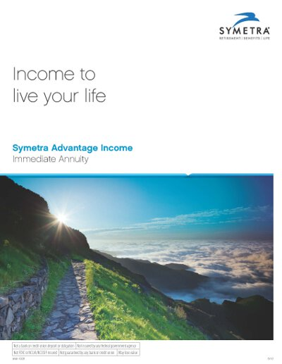 First Symetra Life immediate annuity brochure