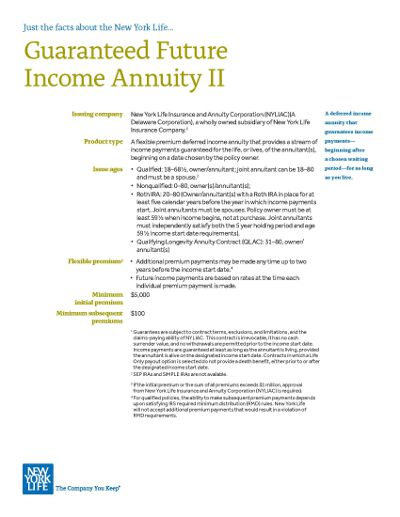 new york life guaranteed future income defferred income annuity brochure