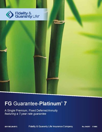 fidelity and guarantee fg guarantee platinum 7 annuity brochure