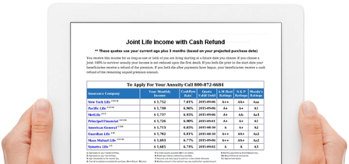 immediate annuities income annuity quote calculator