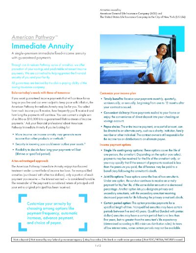 american general american pathway immediate annuity brochure