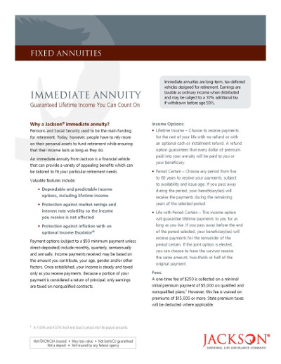 jackson immediate annuity brochure
