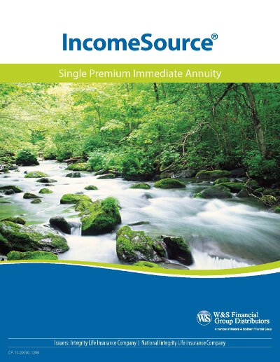 integrity incomesource single premium immediate annuity brochure