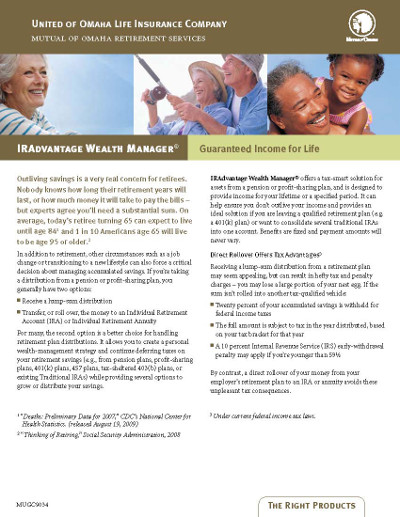 uo iradvantage wealth manager annuity brochure
