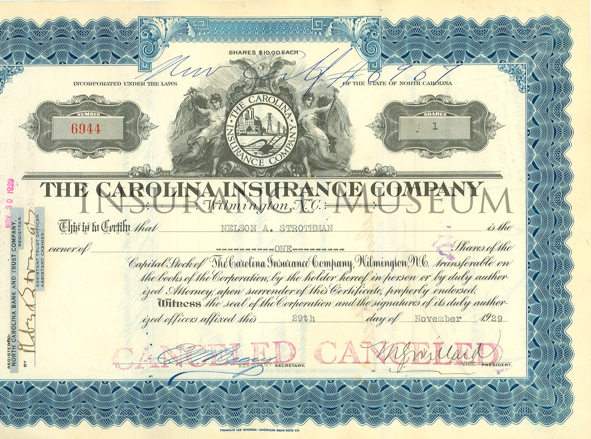 Stocks and Share Certificates Museum of Insurance – Company Share Certificates