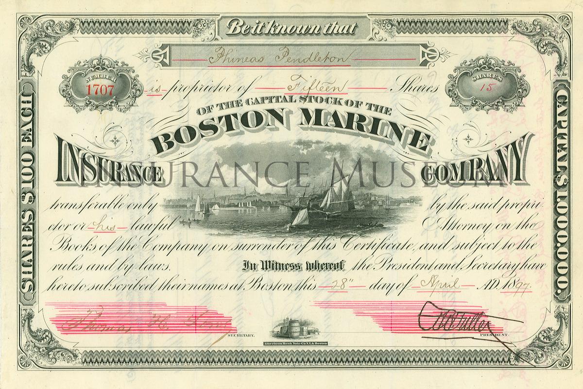 Boston Marine Insurance Company - 1897-04-28 - Stocks and ...