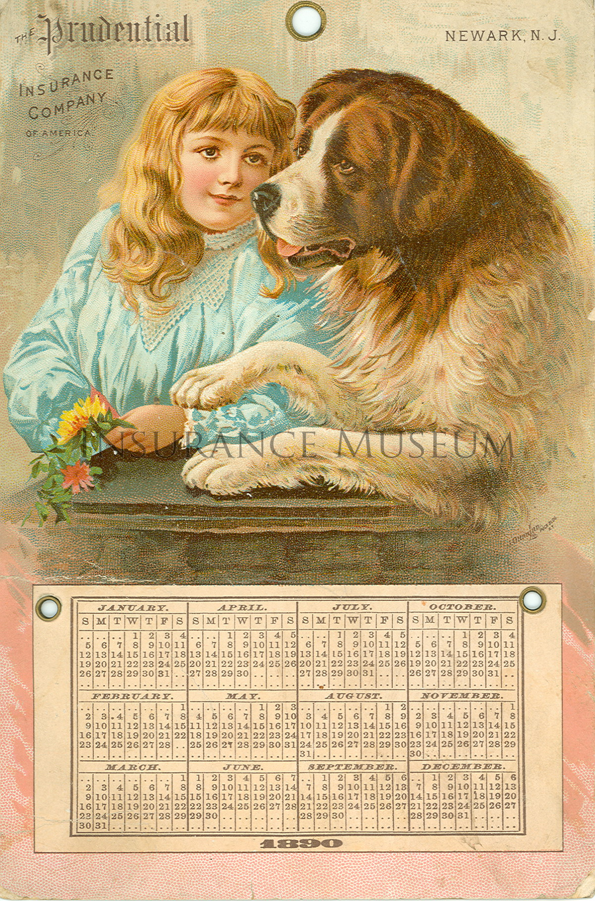 ... of America - 1890-01-01 - Calendar found in Musuem of Insurance