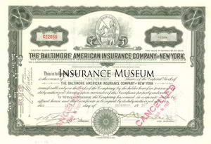 Harmonia Fire Insurance Company Stock Certificate N.Y